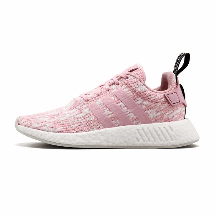 Adidas NMD_R2 W爆米花透气休闲运动鞋 樱花粉