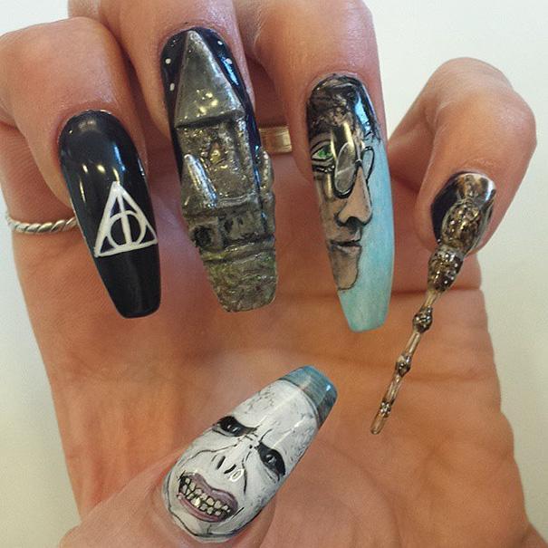 哈利波特指甲艺术 | 这哪里是艺术,简直就是魔术啊