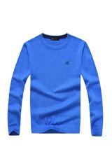 富貴鳥 FUGUINIAO 男裝薄款毛衣男圓領套頭純色針織衫長袖打底衫 16018FG12313(彩蘭 XXXL)